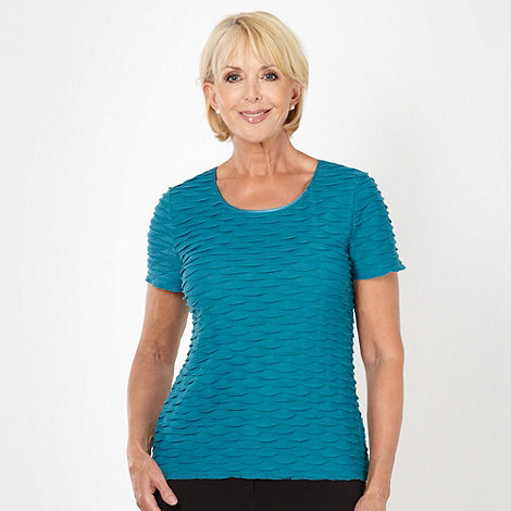 Classics - Turquoise textured jersey top