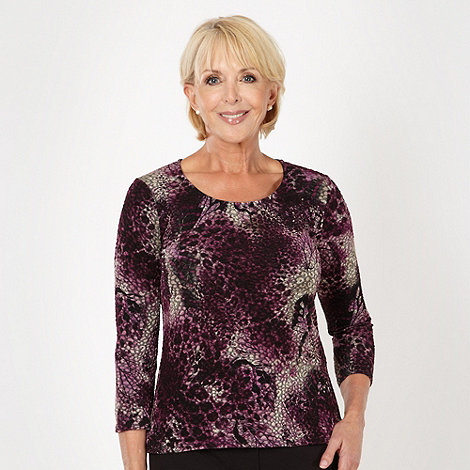 Classics - Dark purple textured butterfly top