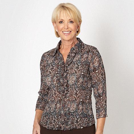 Classics - Brown snake crinkle blouse