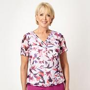 Pink tigerlily V-neck top