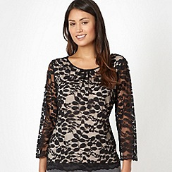 Classics - Black lace overlay top