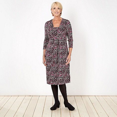 Classics - Dark pink animal spot jersey dress