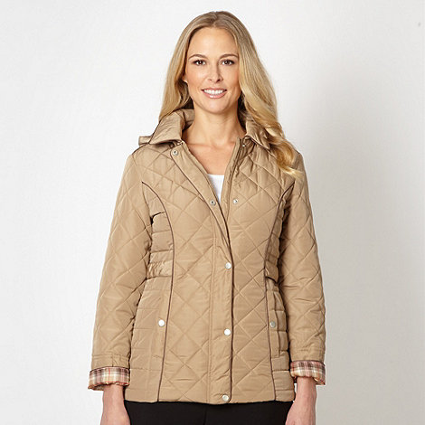 Classics - Natural quilted piped jacket