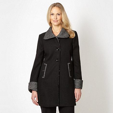 Classics - Black contrast collar coat
