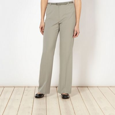 Classics Pale green belted trousers - . -