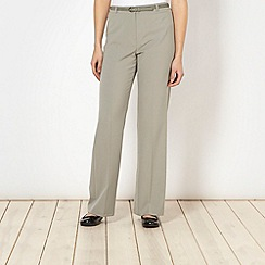 Classics - Pale green belted trousers