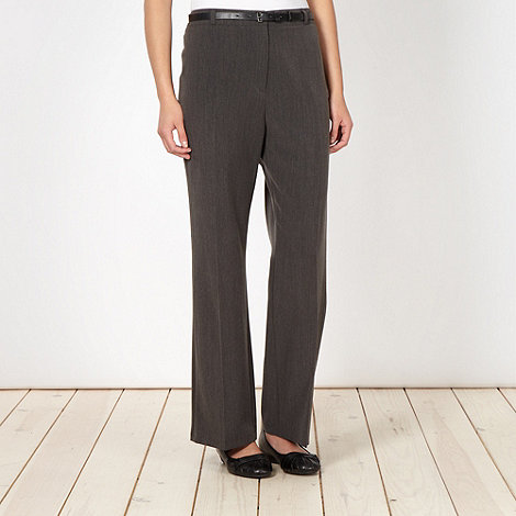 Classics - Dark grey smart belted trousers