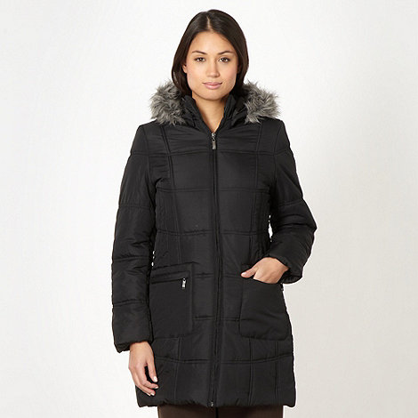 Classics - Black faux fur hooded coat