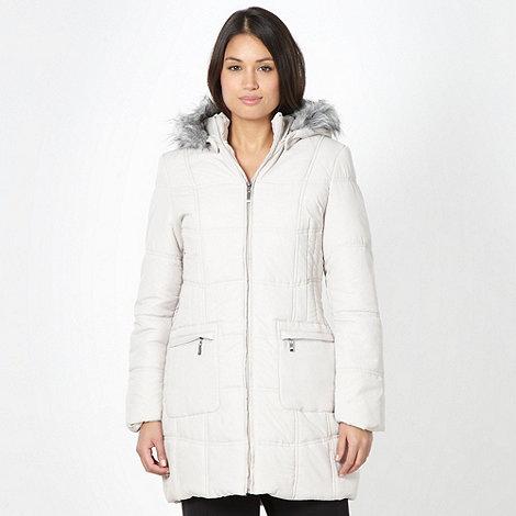 Classics - Cream faux fur hooded coat