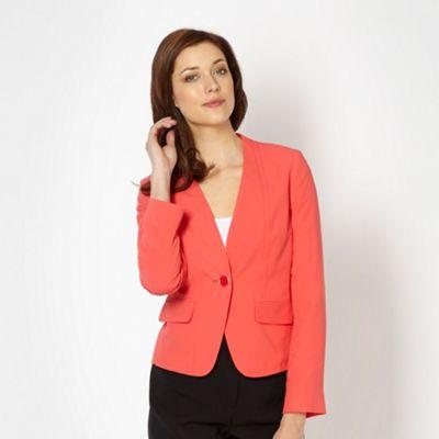 Classics Peach crepe blazer - . -