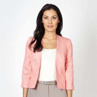 Classics Light peach jacquard spotted jacket - . -