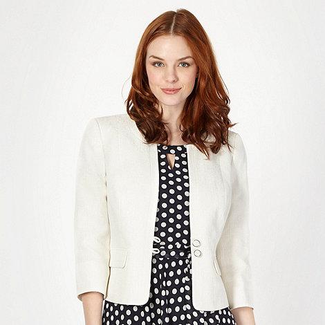 Classics - Ivory jacquard occasion jacket