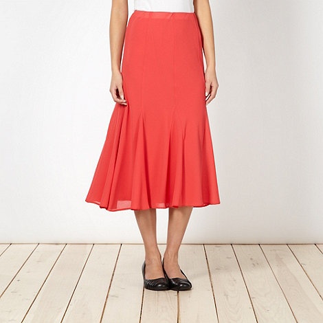 Classics - Coral pleated midi skirt