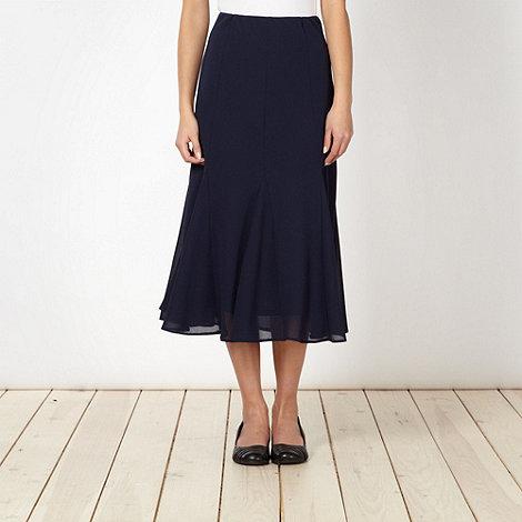 Classics - Navy pleated midi skirt