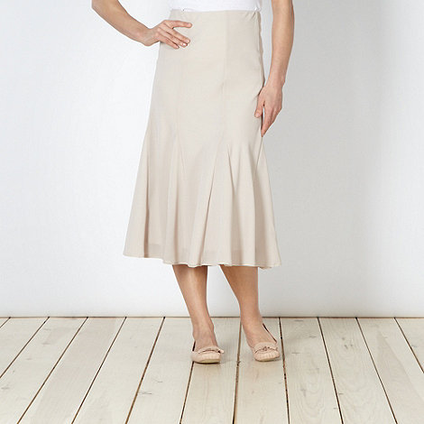 Classics - Natural flared midi skirt