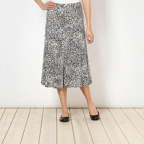 Classics - Navy graphic print skirt
