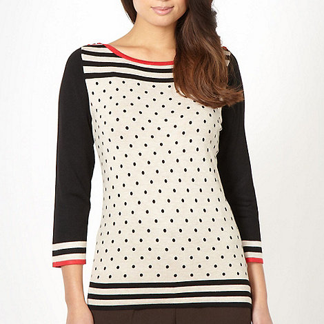 Classics - Beige polka dot striped jumper