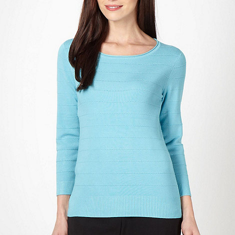 Classics - Pale blue stitch striped jumper