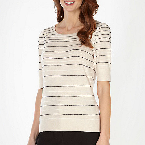Classics - Natural spotted stripe jumper