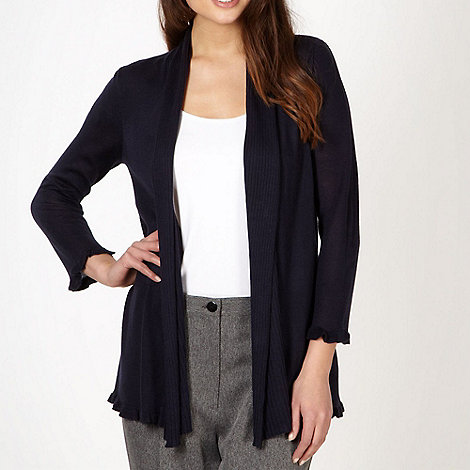 Classics - Navy frilled edge to edge cardigan
