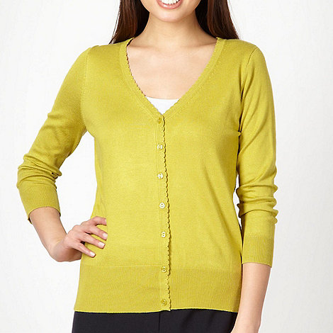 Classics - Lime scalloped trim cardigan