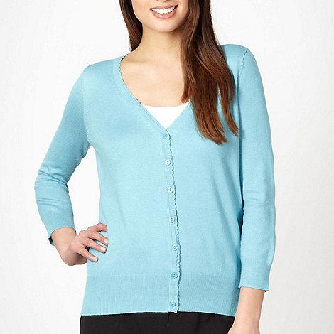 Classics - Light blue scalloped trim cardigan