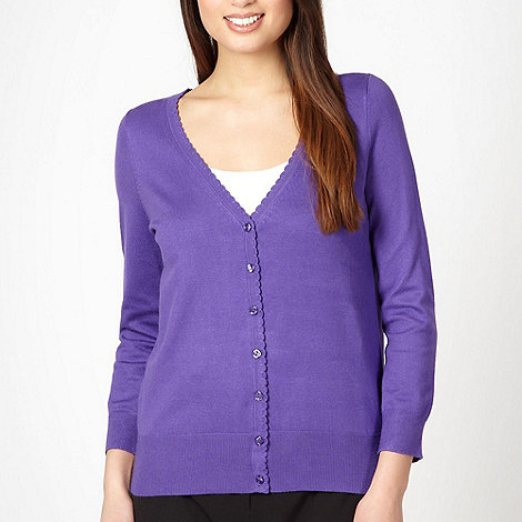 Classics - Purple scalloped trim cardigan