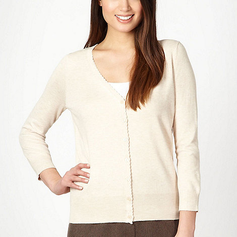 Classics - Natural scalloped trim cardigan