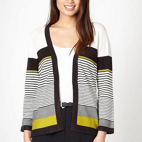 Classics - Ivory block striped cardigan
