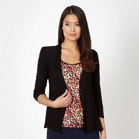 Classics - Red graphic print tiered 2 in 1 top