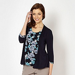 Classics - Navy floral 2 in 1 top