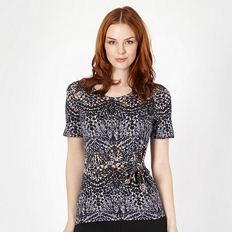 Classics - Navy abstract print top