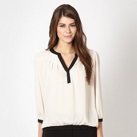 Classics - Cream border chiffon blouse
