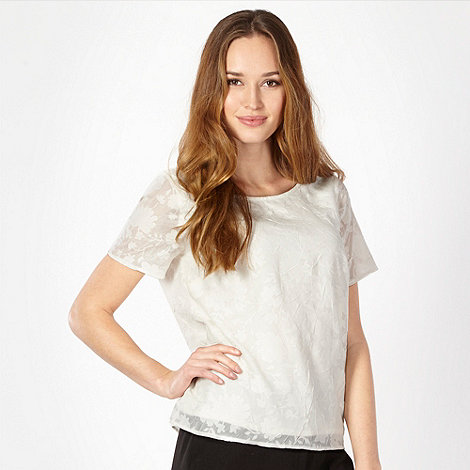 Classics - Ivory floral burn out top