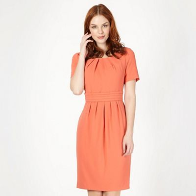 Classics Light peach textured shift dress - . -