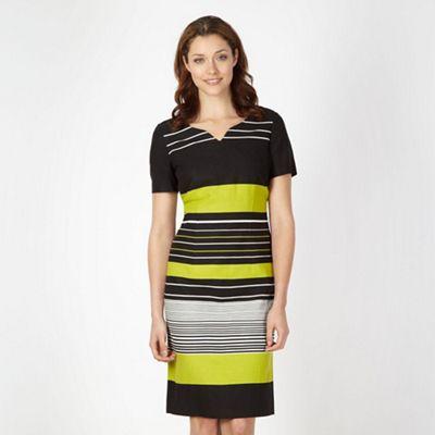 Classics Lime striped linen dress - . -