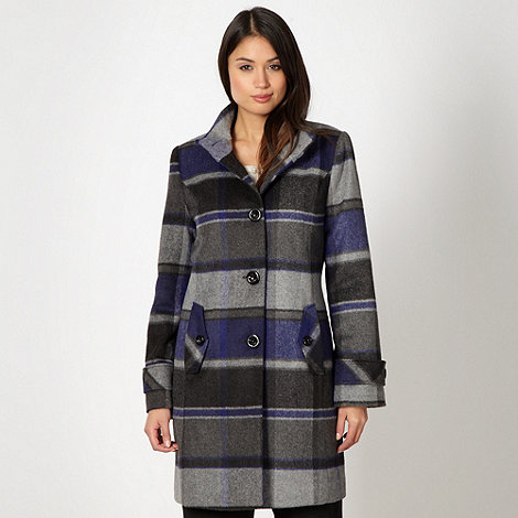 Classics - Grey checked single breasted coat