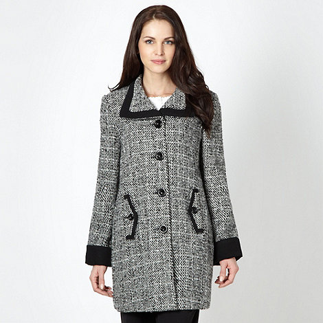 Classics - Black single breasted tweed coat