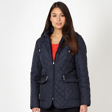 Classics - Navy diamond quilted jacket