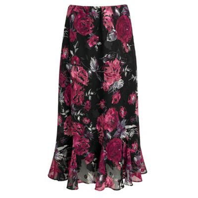 Debenhams Classics Black rose burnout skirt product image