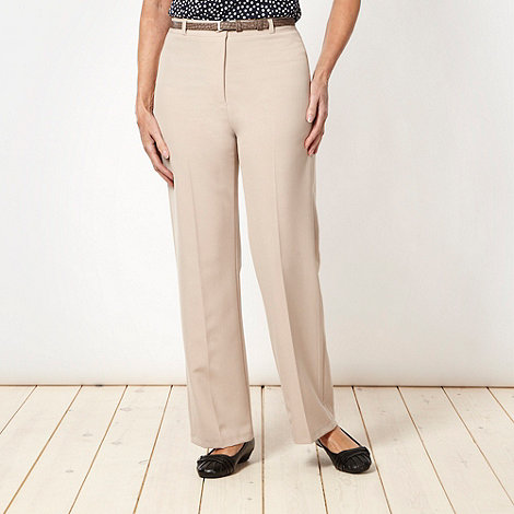 Classics - Natural belted trousers