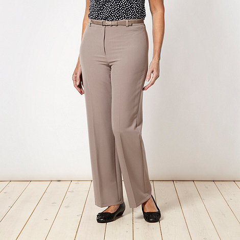 Classics - Taupe belted +Pablo+ trousers