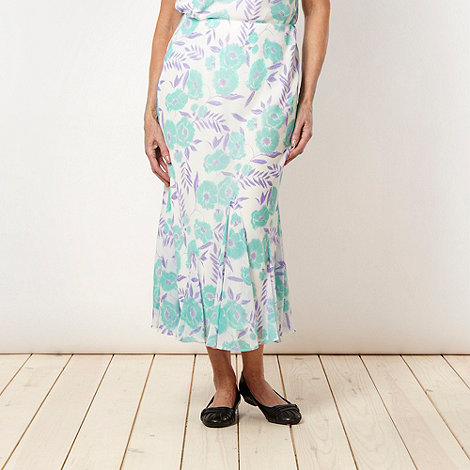 Classics - Ivory oriental flower printed skirt