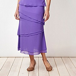 Classics - Lilac ruffled layered skirt