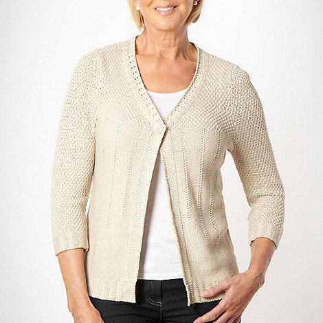 Classics - Natural tape knitted cardigan