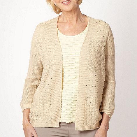 Classics - Beige textured knit cardigan