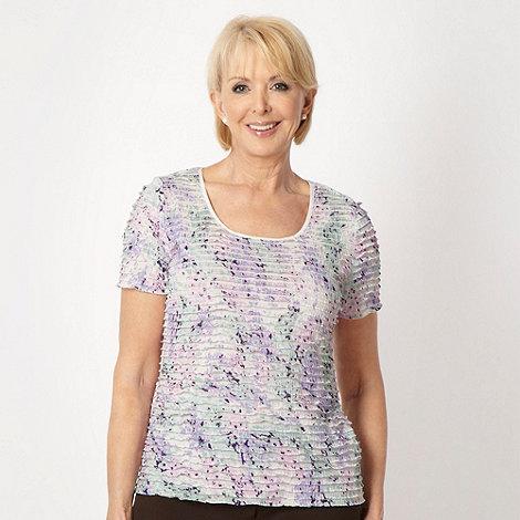 Classics - Purple printed frill top