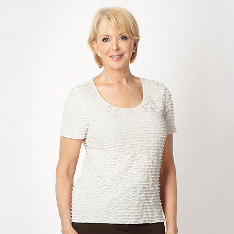 Classics - White frilled jersey top
