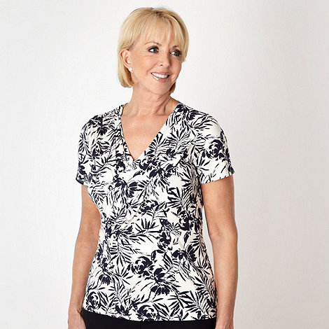Classics - White floral patterned top