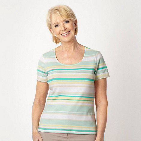 Classics - Green striped jersey top